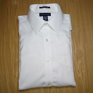 ランズエンド(LANDS'END)の立体Xシャツ 37/80 長袖 レギュラーカラー(シャツ)