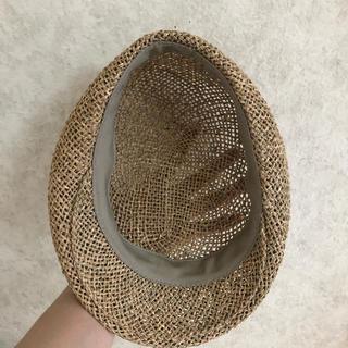 カンゴール(KANGOL)のレア! ハンチング ストロー 麦わら帽子 deadstock カンカン帽 90s(ハンチング/ベレー帽)