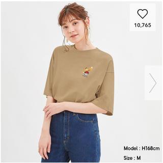 ポケモン(ポケモン)のちぇすな様専用 GU ポケモン Tシャツ Mサイズ ライトブラウン(Tシャツ(半袖/袖なし))