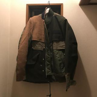 サカイ(sacai)のsacai 18aw combo fabric jacket(ミリタリージャケット)
