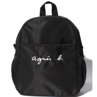 アニエスベー(agnes b.)の新品タグ付き アニエスベー   agnesb  ロゴ  リュック 5L(リュックサック)