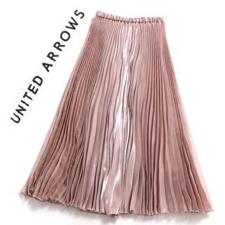ユナイテッドアローズ(UNITED ARROWS)のUNITED ARROWS UWFM グリッター プリーツスカート (ロングスカート)