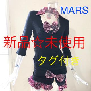マーズ(MA*RS)のMA*RS☆マーズ☆ハートグレンチェック☆リボン襟付き☆ミニスカ☆上下2点セット(カットソー(長袖/七分))