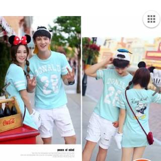 ディズニー(Disney)のディズニー ペアルック カップル Tシャツ ワンピース ドナルド(Tシャツ(半袖/袖なし))