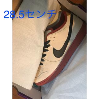 ナイキ(NIKE)のnike sb dunk low muslin 28.5センチ その①(スニーカー)