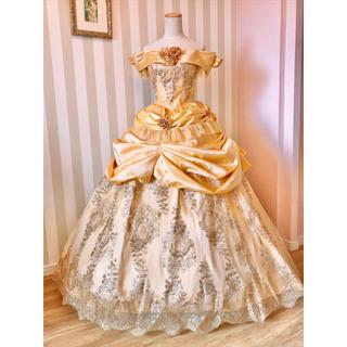 ディズニー(Disney)の❁美女と野獣 ベル風 デラックス版イエロードレス衣装❁新品(ロングドレス)