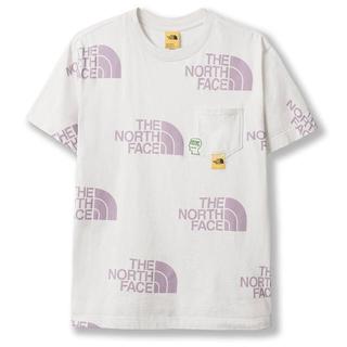 ザノースフェイス(THE NORTH FACE)のブレインデッド ノースフェイス Tシャツ L 新品 送料込 アイボリー(Tシャツ/カットソー(半袖/袖なし))