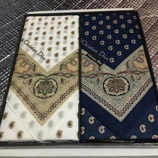 クリスチャンディオール(Christian Dior)のディオール ハンカチ2枚セット(ハンカチ/ポケットチーフ)