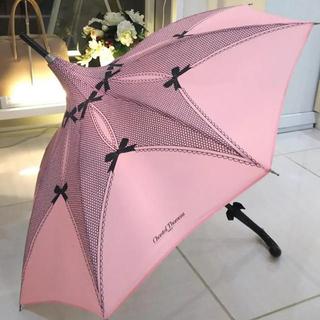 シャンタルトーマス(Chantal Thomass)のChantal Thomass シャンタル トーマス 晴雨兼用傘 ピンク/リボン(傘)