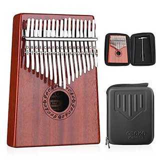 GECKO カリンバ 17 keys Kalimba 親指ピアノとEVA高性能保(パーカッション)