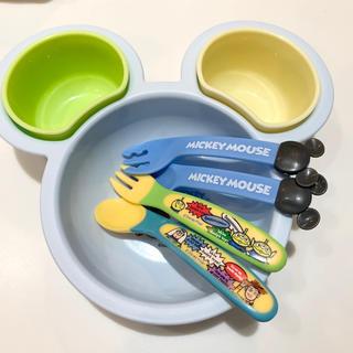 ディズニー(Disney)のミッキー 子供用食器 ベビー用食器 トイストーリー カラトリー 離乳食食器(離乳食器セット)