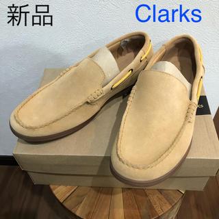 クラークス(Clarks)の新品 クラークス Clarks スエード デッキシューズ 革靴 シューズ(デッキシューズ)