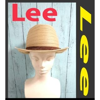 リー(Lee)のLEE リー ストローハット 麦わら帽子 ベージュ(ハット)