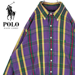 ラルフローレン(Ralph Lauren)のラルフローレン ワンポイントロゴ刺繍 チェック 長袖BDシャツ オーバーサイズ(シャツ)