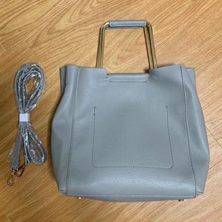 ザラ(ZARA)のZARA  レザー調  ショルダー付ハンドバッグトートバッグ ショルダーバッグ(ハンドバッグ)