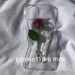 Rose iphone case (iphone11pro max)(スマホケース)