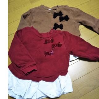 プティマイン(petit main)のプティマイン重ね着風スエット(Tシャツ/カットソー)