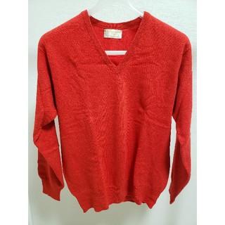 ユナイテッドアローズ(UNITED ARROWS)のUNITED ARROWS Vネックセーター(赤)(ニット/セーター)