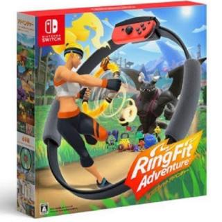 ニンテンドースイッチ(Nintendo Switch)のニンテンドースイッチ リングフィットアドベンチャー 同梱版 新品(家庭用ゲームソフト)