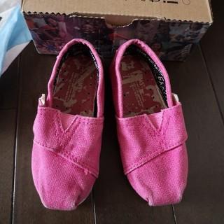 トムズ(TOMS)のTOMS トムズ 13cm ピンク 子供靴(スリッポン)