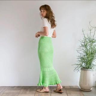 シールームリン(SeaRoomlynn)のsearoomlynn クロシェマーメイドニットスカート(ロングスカート)