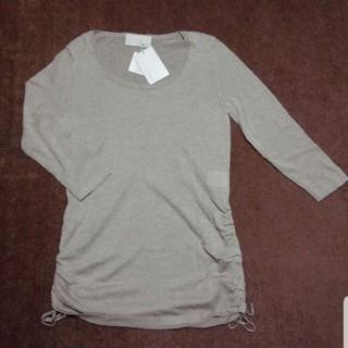 アンタイトル(UNTITLED)のアンタイトル 7分袖ニット ベージュゴールド 2(M、9号)サイズ(ニット/セーター)