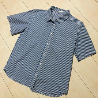 ジーユー(GU)のストライプシャツ GU(シャツ/ブラウス(半袖/袖なし))
