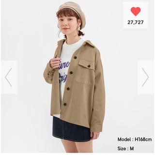 ジーユー(GU)のGU オーバーサイズシャツジャケット(スプリングコート)