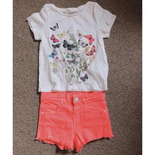 ザラ(ZARA)のZARA ショートパンツ H&M Tシャツ セット(Tシャツ)