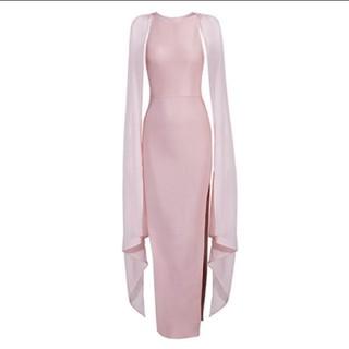ビーシービージーマックスアズリア(BCBGMAXAZRIA)のロングドレス ピンク(ロングドレス)