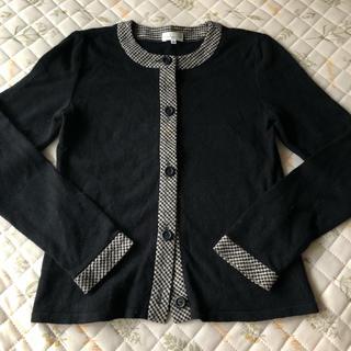 バレンシアガ(Balenciaga)のバレンシアガ カーディガン 黒 ブラック ギンガムチェック 羽織り(カーディガン)
