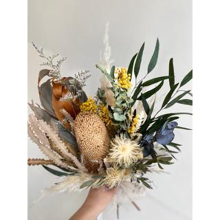 記念日を彩るドライフラワーのブーケ  2020 mimosa ver.(ドライフラワー)