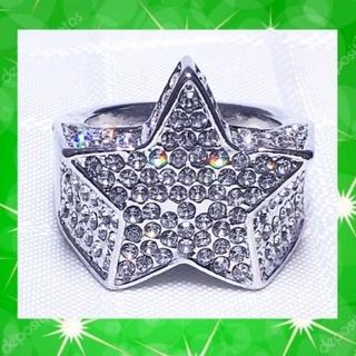 最終値下げ スターデザイン シルバーリング 星形 銀色 指輪(リング(指輪))