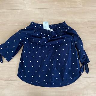 エイチアンドエム(H&M)の水玉ブラウス 新品タグ付き(シャツ/ブラウス(半袖/袖なし))