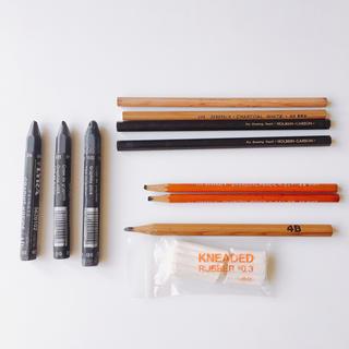 カランダッシュ(CARAN d'ACHE)のチャコールペンシル・デッサン鉛筆など10本(鉛筆)