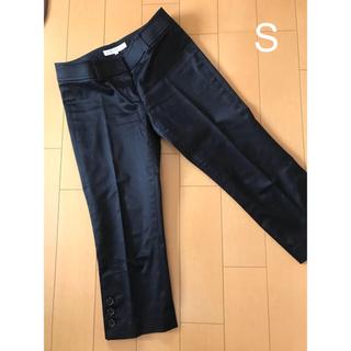 M-premier - 7分丈 クロップド パンツ 黒 プルミエ