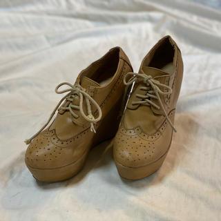 フォーエバートゥエンティーワン(FOREVER 21)の22 forever21 ウエッジソールオックスフォードシューズ(ローファー/革靴)