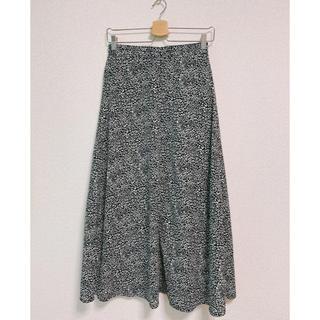 エージープラス(a.g.plus)の【未着用】レオパード柄スカート(ロングスカート)