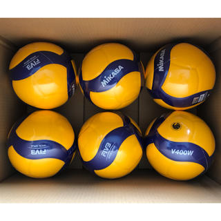 MIKASA - 【新品】 バレーボール V400W 検定球 4号 6球セット