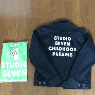 サンダイメジェイソウルブラザーズ(三代目 J Soul Brothers)のGU studio seven デニムジャケット ヘビーウェイトビックT シャツ(Gジャン/デニムジャケット)