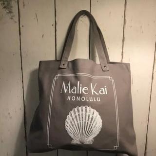 マリエオーガニクス(Malie Organics)のマリエカイ グレー トートバッグ Lサイズ malie kai(トートバッグ)