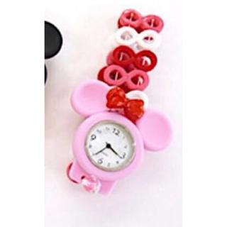 ディズニー(Disney)のラスト一点  トワコロン ミッキー ピンク  (腕時計)