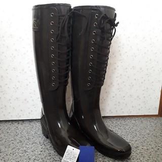 バーバリーブルーレーベル(BURBERRY BLUE LABEL)のバーバリー・ブルーレーベル レインブーツ 焦げ茶色 新品未使用(レインブーツ/長靴)