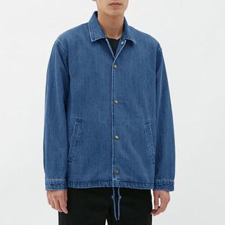 ジーユー(GU)のGU デニムコーチジャケット XLサイズ(Gジャン/デニムジャケット)