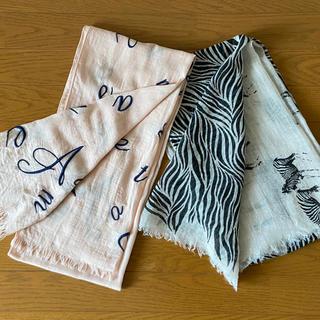 アダムエロぺ(Adam et Rope')のzebra柄と桃色ロペのストール 二枚セット(ストール/パシュミナ)