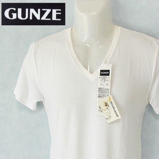 グンゼ(GUNZE)の【GUNZE】 美品 タグ付き グンゼ VネックTシャツ レーヨン サイズM(Tシャツ/カットソー(半袖/袖なし))
