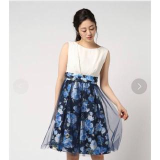 ザラ(ZARA)の花柄 パーティドレス ドレス(ミディアムドレス)