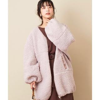 ナチュラルクチュール(natural couture)の新品未使用 ナチュラルクチュール ボアブルゾン(ブルゾン)