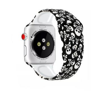 Apple Watch ベルト スポーツバンド 38 / 40 ドクロ スカル