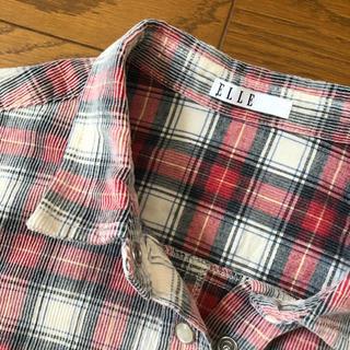 エル(ELLE)のELLEチェックシャツ(シャツ/ブラウス(長袖/七分))